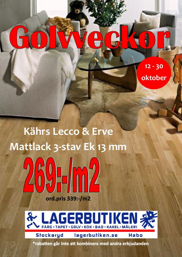 Golvveckor 269:-/kvm